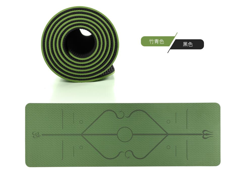 TPE Yoga Mat Non Slip Carpet my products Another Ideal Shop 6mm Green