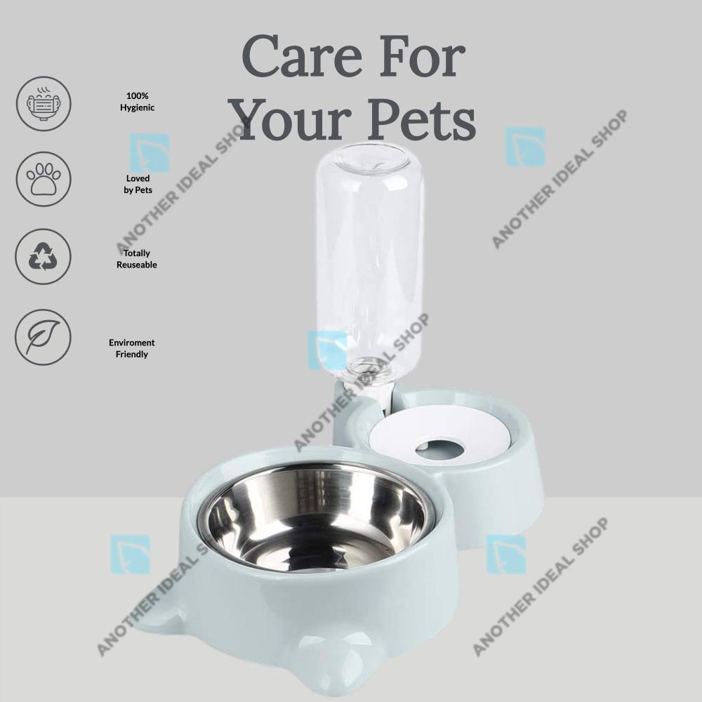 2-in-1 Automatic Water Dispenser Feeder Cat Feeding & Watering Supplies Surprising World Store Green