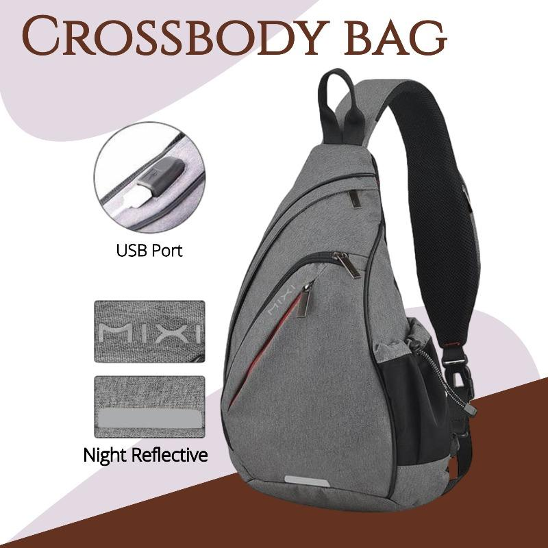 Cycling Crossbody Bag Another Ideal Shop Gray 19 inches