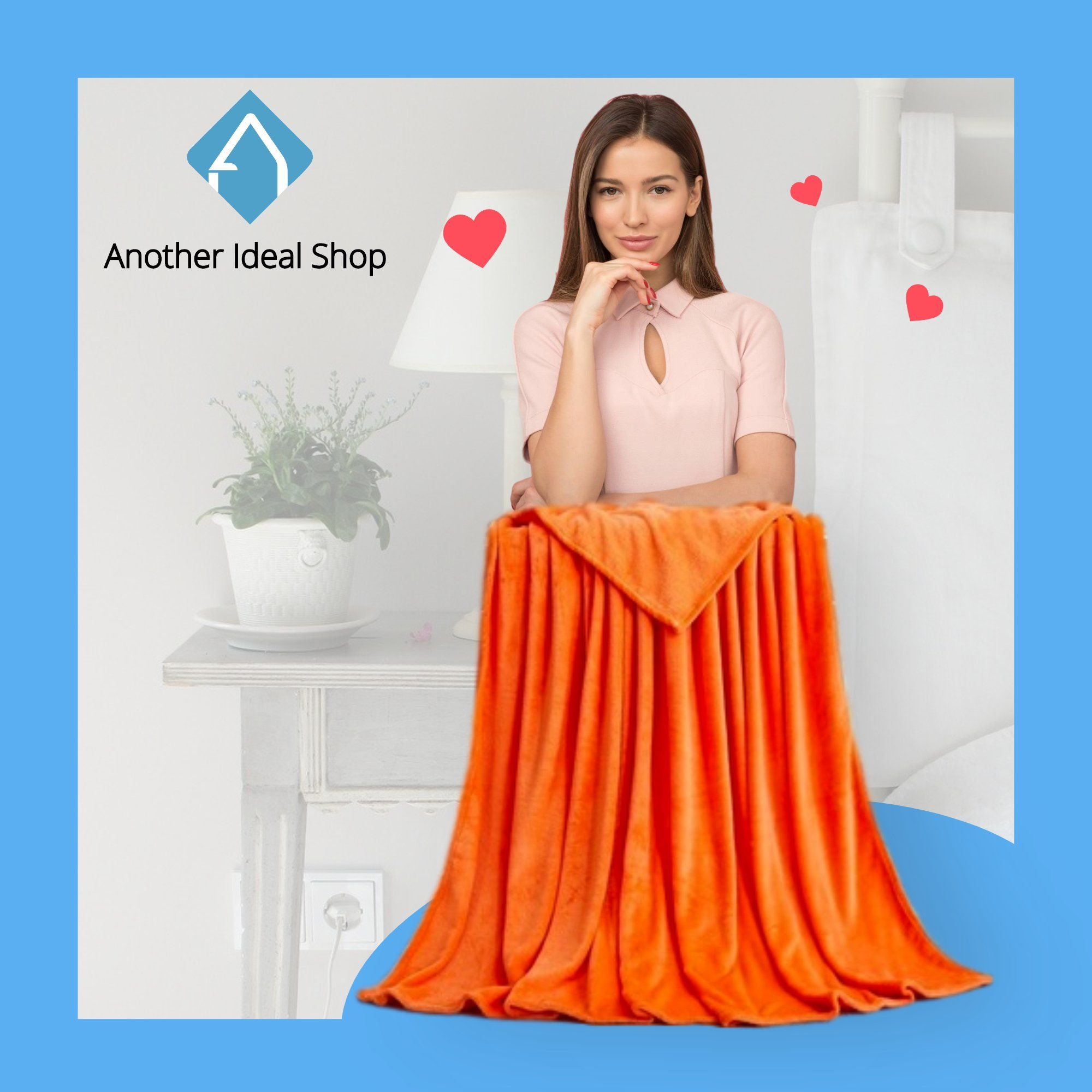 Luxury Weighted Blanket Another Ideal Shop 70cm x 100cm Orange