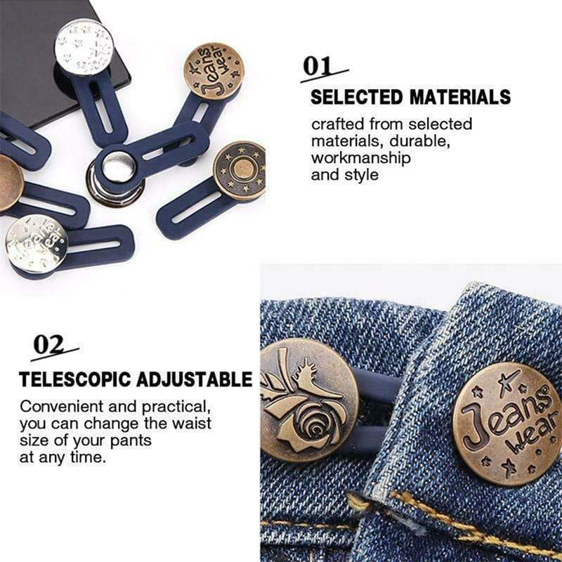 Retractable Jeans Button כפתורים DIY House Decoration Store
