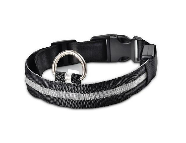 Safety Night Pet Collar Another Ideal Shop Collar-Black L