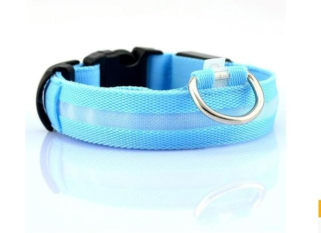 Safety Night Pet Collar Another Ideal Shop Collar-Blue L