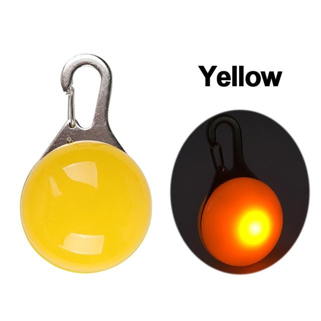 Safety Night Pet Collar Another Ideal Shop Pendant-Yellow S