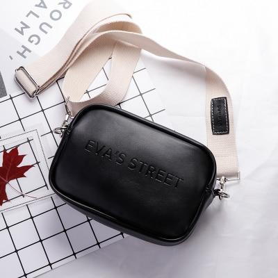 Flap-Style Crossbody Bag Another Ideal Shop Black