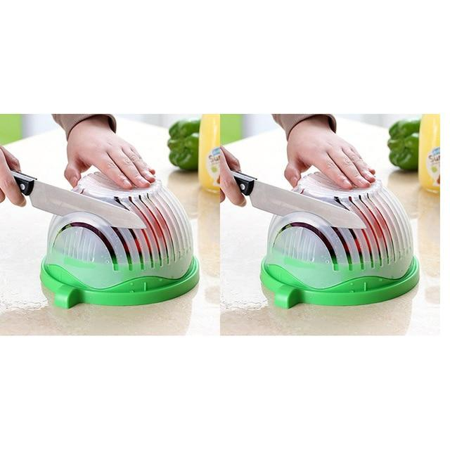 Salad Cutting Colander Another Ideal Shop 2 pcs green