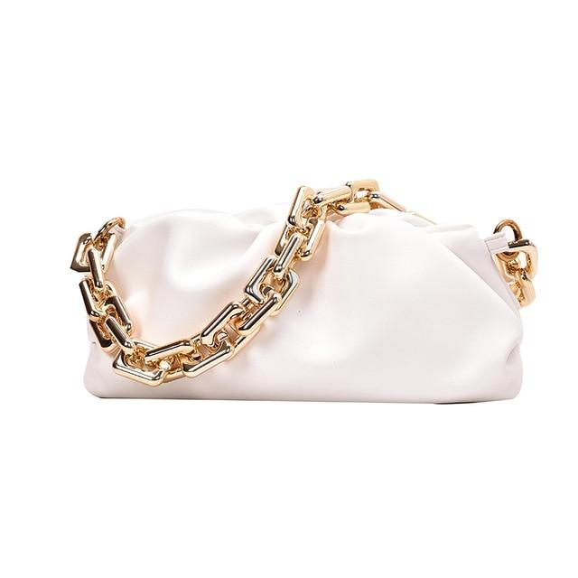 Chain Handle Hobo Bag Another Ideal Shop Thick chain white