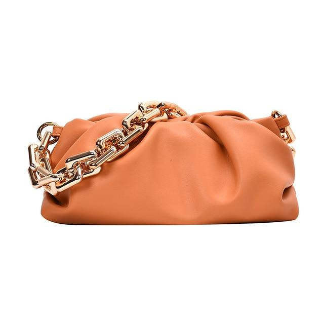 Chain Handle Hobo Bag Another Ideal Shop Thick chain Orange