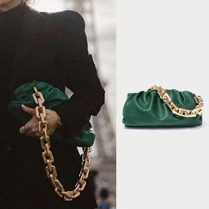 Chain Handle Hobo Bag Another Ideal Shop Small Green