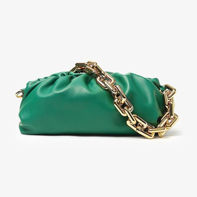 Chain Handle Hobo Bag Another Ideal Shop Thick chain green