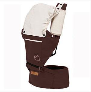 Cotton Baby Carrier with Hood Another Ideal Shop Dark Brown
