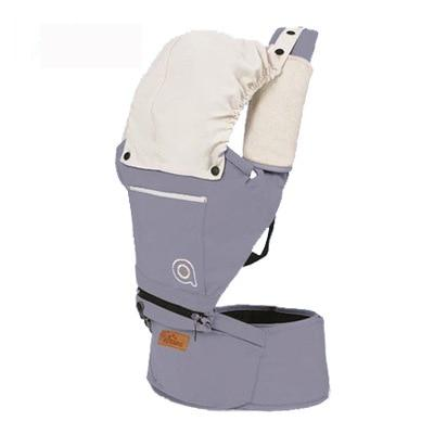 Cotton Baby Carrier with Hood Another Ideal Shop Gray