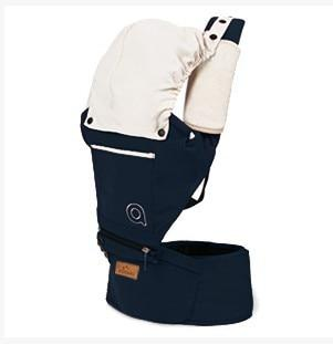 Cotton Baby Carrier with Hood Another Ideal Shop Navy Blue