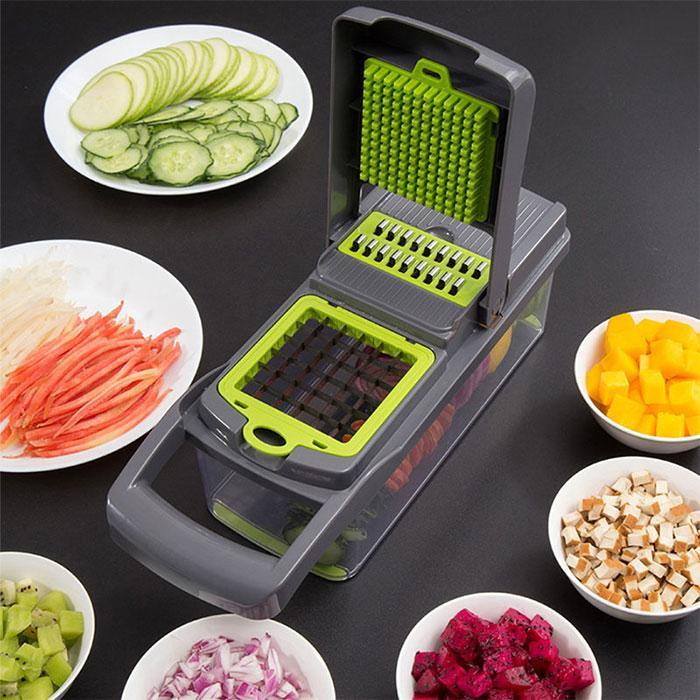 Multifunctional Vegetable Cutter my products Another Ideal Shop Online Grey and green