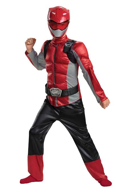 DISFRAZ ORIGINAL POWER RANGER ROJO BEAST MORPHERS