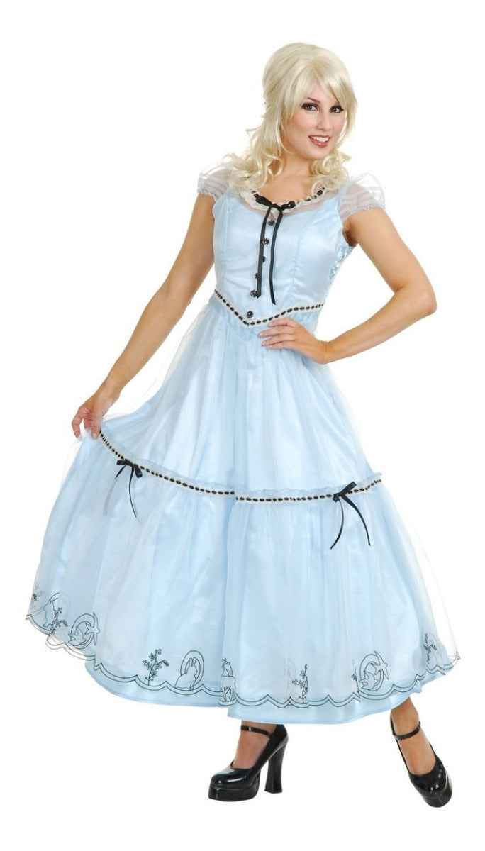 DISFRAZ ALICE IN WONDRLAND BLUE DRESS DAMA