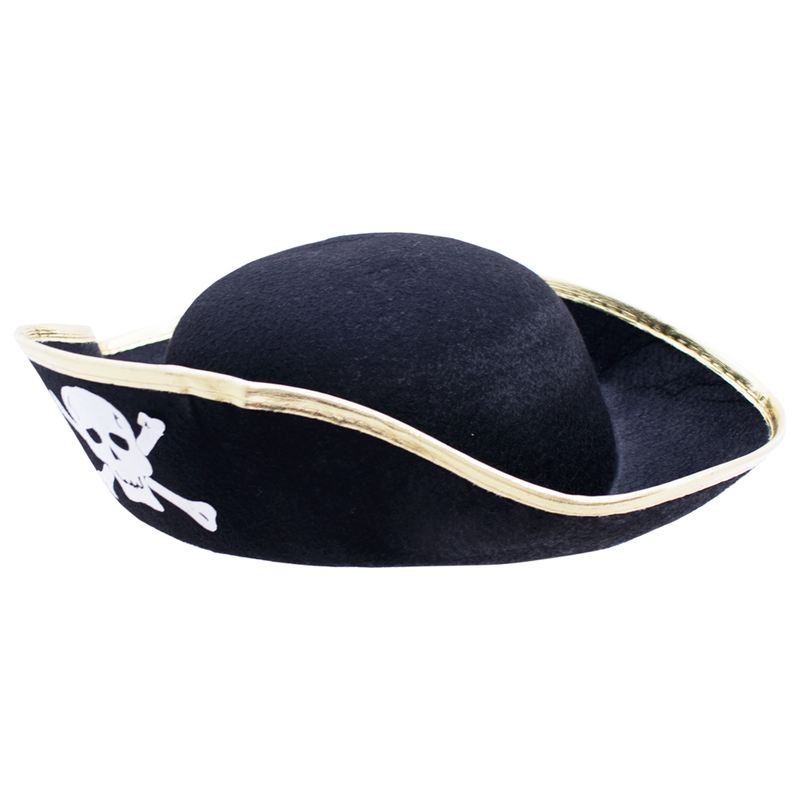 SOMBRERO DE PIRATA GOLD BINDING