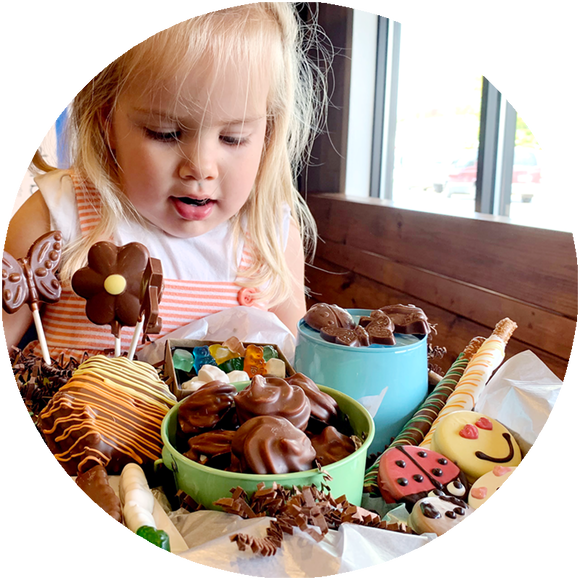 Kids LOVE Kalona Chocolates! Chocolates for children in Kalona, Iowa