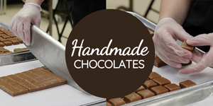 Chocolates are handmade in a kitchen located in Kalona, Iowa.