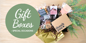 Special Occasion chocolate gift boxes are handmade in Kalona, Iowa.