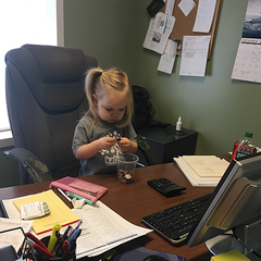 3 year old takes over business management