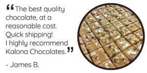 """The best quality chocolate, at a reasonable cost. Quick shipping! I highly recommend Kalona Chocolates."""