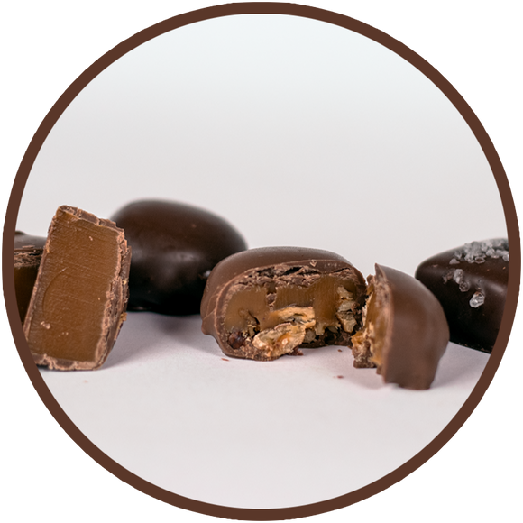 Chocolate covered Caramels handmade in Kalona, Iowa - Gift Box!