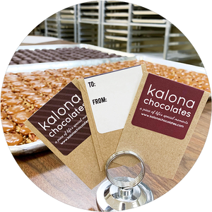 Gift cards from Kalona Chocolates in Kalona Iowa