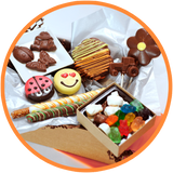 These kids chocolate gift boxes are hand made in Kalona Iowa. They are sure to delight any chocolate lover!