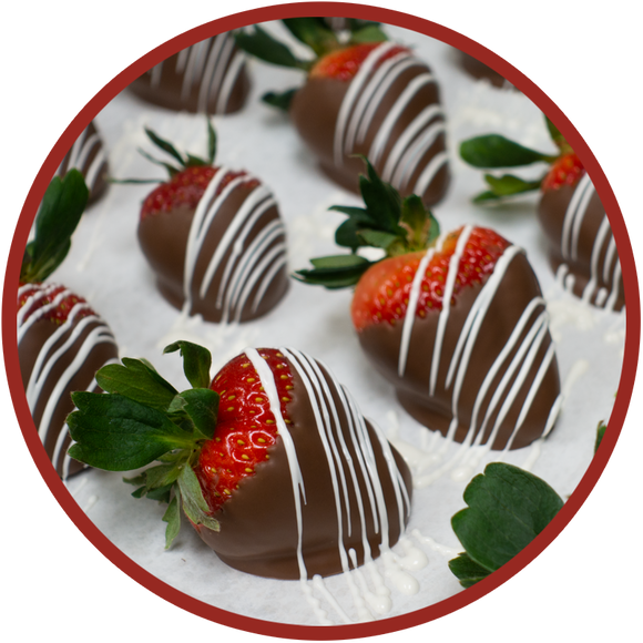 Chocolate covered strawberries made in eastern Iowa.