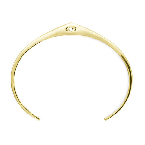 Arch Cuff / Gold Plated Bronze