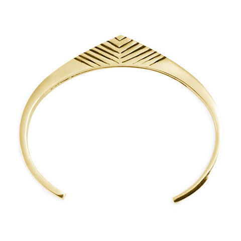 Tribal Cuff / Gold Plated Bronze