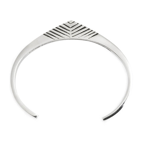 Tribal Cuff / Sterling Silver