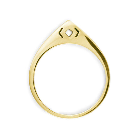 Arch Ring / Gold Plated Yellow Bronze