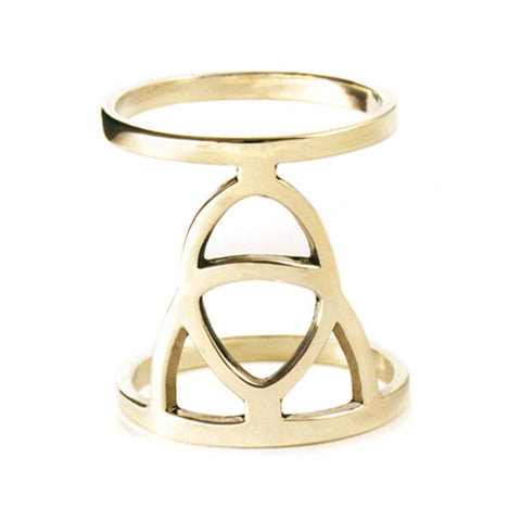 Aura Ring / Gold Plated Yellow Bronze