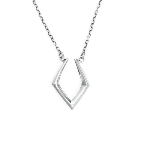 Closed V Necklace / Sterling Silver