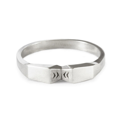 Mini Angle Knuckle Ring / Sterling Silver
