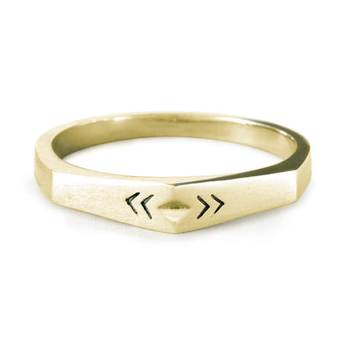 Point Ring / Gold Plated Bronze