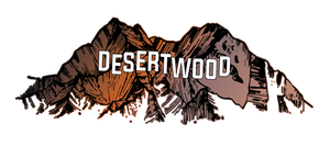 DESERTWOOD  sign on mountains