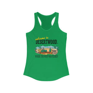 "Desertwood Classic ""Where The West Was Filmed"" Racerback Tank (Sizes run smaller than usual)"