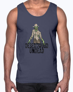 "Desertwood Undead ""New Sheriff In Town"" Gildan Ultra Cotton Tank"