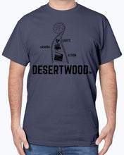 "Load image into Gallery viewer, Desertwood Classic ""Lights, Camera, Action!""Gildan Sign Cotton T-Shirt"