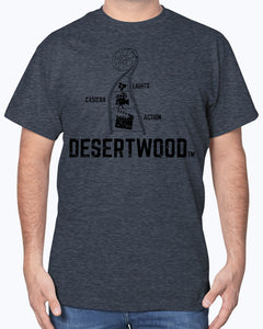 "Desertwood Classic ""Lights, Camera, Action!""Gildan Sign Cotton T-Shirt"