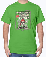 "Load image into Gallery viewer, Desertwood Classic ""Privateers Of The Silver Screen""Gildan Sign Cotton T-Shirt"