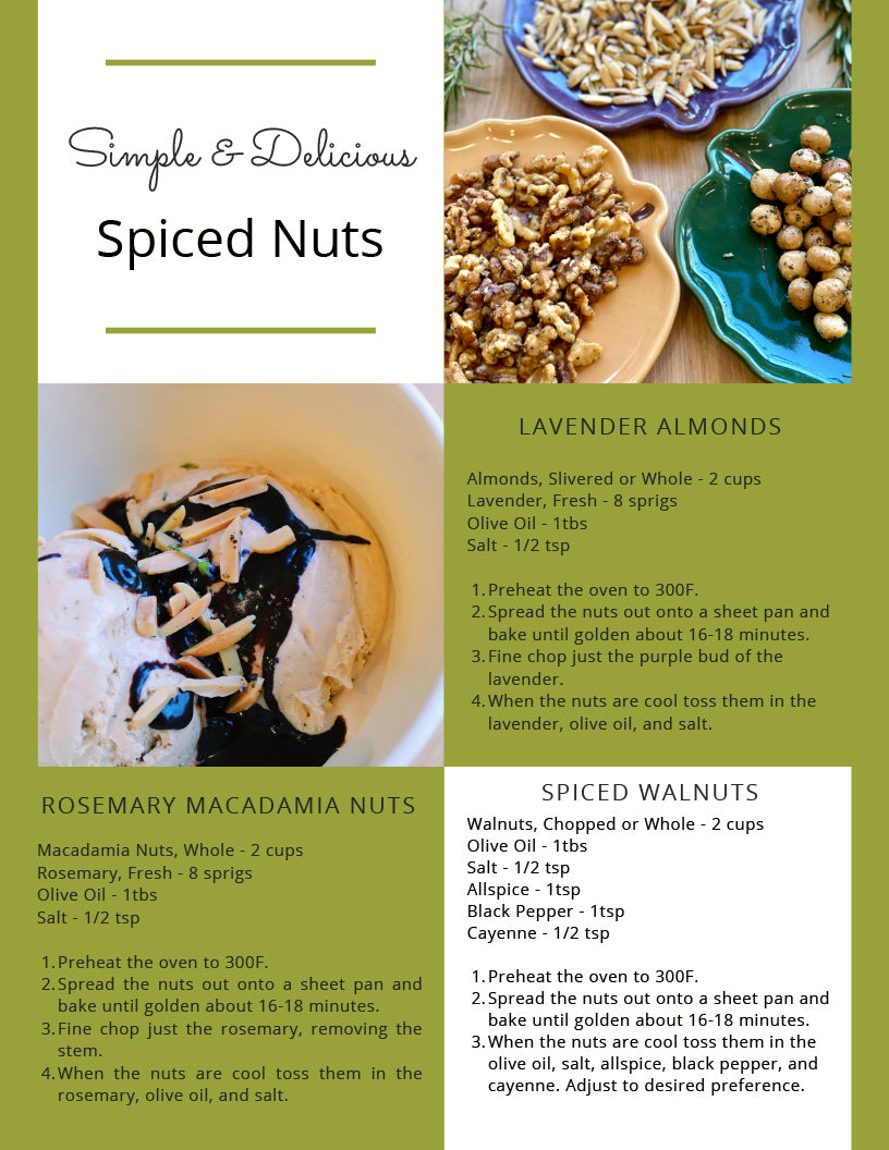 Ice cream topping recipes - spiced nuts