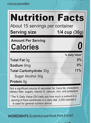 label for sugar free item
