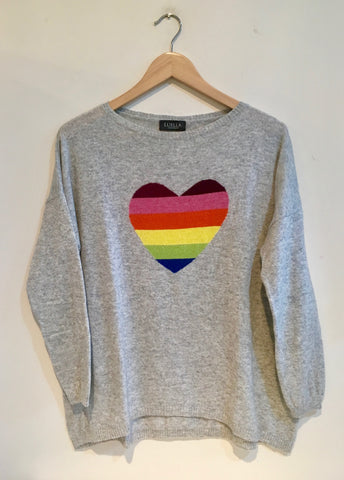 Luella Rainbow Heart Jumper