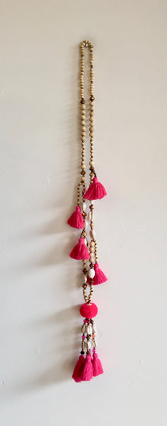 Tassel Necklace Fuchsia