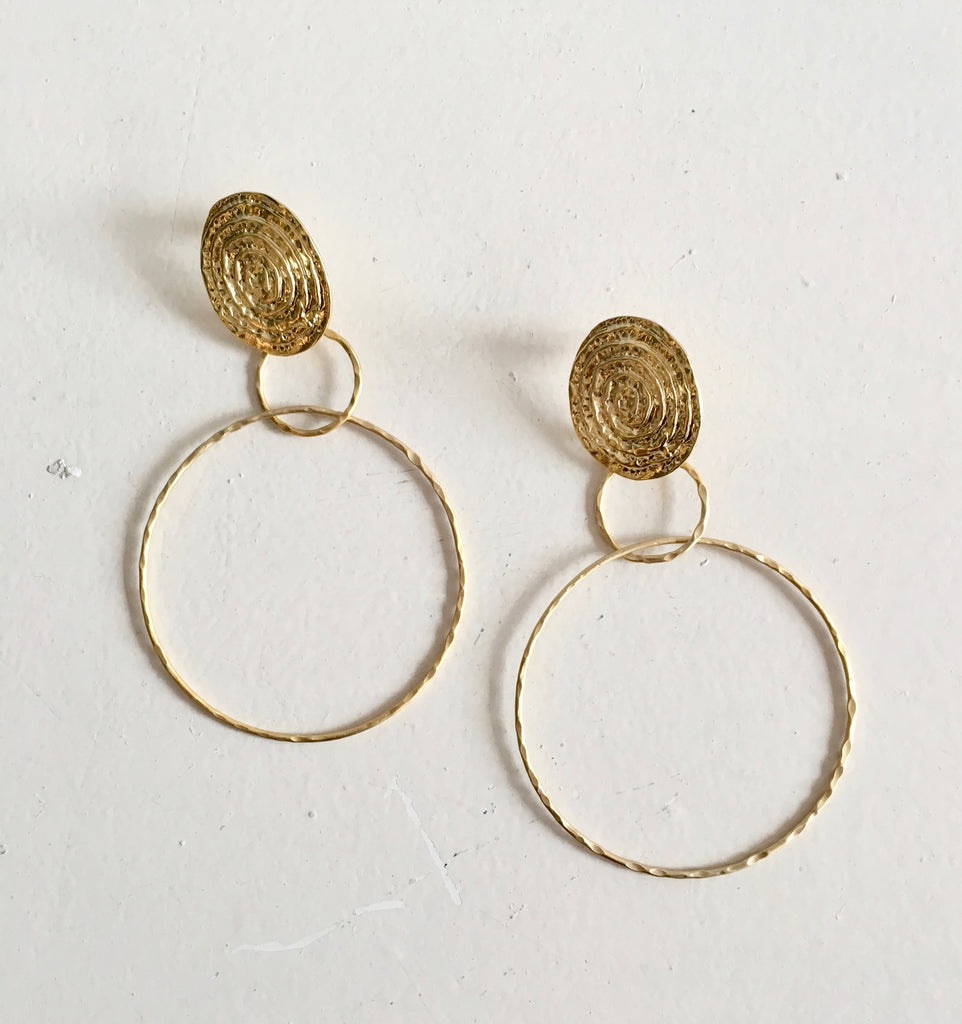 Diana Wilson Grecian Gold Earrings