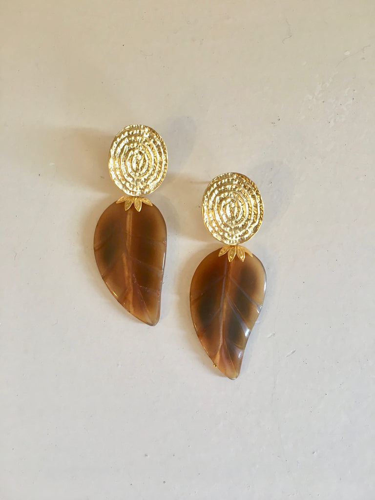 Diana Wilson Leaf Earrings